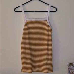 Never worn Yellow and White Old Navy tank top